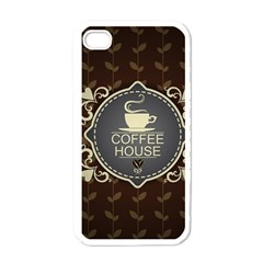 Coffee House Apple Iphone 4 Case (white)