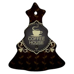 Coffee House Christmas Tree Ornament (two Sides) by BangZart
