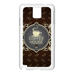 Coffee House Samsung Galaxy Note 3 N9005 Case (white)