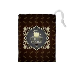 Coffee House Drawstring Pouches (medium)