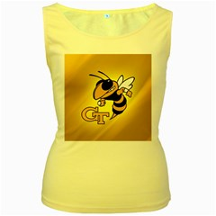 Georgia Institute Of Technology Ga Tech Women s Yellow Tank Top