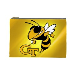 Georgia Institute Of Technology Ga Tech Cosmetic Bag (large)  by BangZart