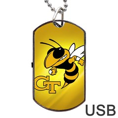 Georgia Institute Of Technology Ga Tech Dog Tag Usb Flash (one Side)