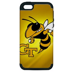 Georgia Institute Of Technology Ga Tech Apple Iphone 5 Hardshell Case (pc+silicone) by BangZart