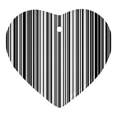 Barcode Pattern Ornament (heart)