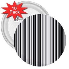 Barcode Pattern 3  Buttons (10 Pack)