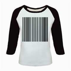 Barcode Pattern Kids Baseball Jerseys
