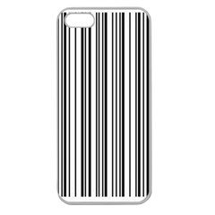 Barcode Pattern Apple Seamless Iphone 5 Case (clear) by BangZart