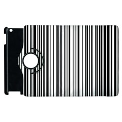 Barcode Pattern Apple Ipad 3/4 Flip 360 Case