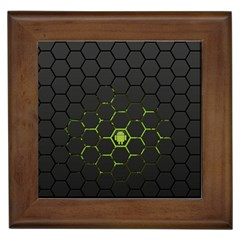 Green Android Honeycomb Gree Framed Tiles by BangZart