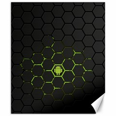 Green Android Honeycomb Gree Canvas 8  X 10