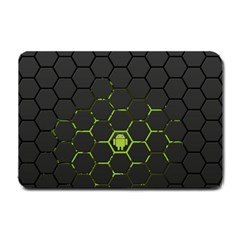 Green Android Honeycomb Gree Small Doormat