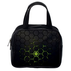 Green Android Honeycomb Gree Classic Handbags (one Side)