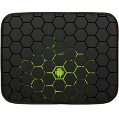 Green Android Honeycomb Gree Fleece Blanket (mini)