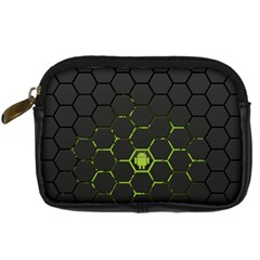 Green Android Honeycomb Gree Digital Camera Cases by BangZart