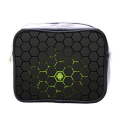Green Android Honeycomb Gree Mini Toiletries Bags