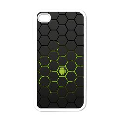 Green Android Honeycomb Gree Apple Iphone 4 Case (white)