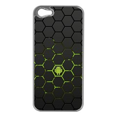 Green Android Honeycomb Gree Apple Iphone 5 Case (silver) by BangZart