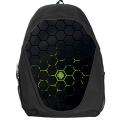 Green Android Honeycomb Gree Backpack Bag