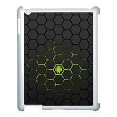 Green Android Honeycomb Gree Apple Ipad 3/4 Case (white)