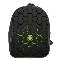 Green Android Honeycomb Gree School Bags (xl)  by BangZart