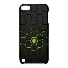 Green Android Honeycomb Gree Apple Ipod Touch 5 Hardshell Case With Stand