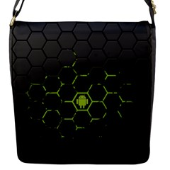 Green Android Honeycomb Gree Flap Messenger Bag (s) by BangZart