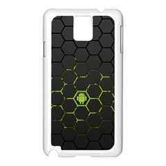 Green Android Honeycomb Gree Samsung Galaxy Note 3 N9005 Case (white) by BangZart