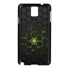 Green Android Honeycomb Gree Samsung Galaxy Note 3 N9005 Case (black)