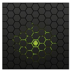 Green Android Honeycomb Gree Large Satin Scarf (square)