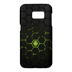 Green Android Honeycomb Gree Samsung Galaxy S7 Hardshell Case  by BangZart