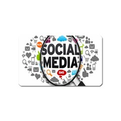 Social Media Computer Internet Typography Text Poster Magnet (name Card)