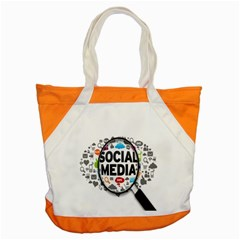 Social Media Computer Internet Typography Text Poster Accent Tote Bag by BangZart
