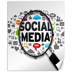Social Media Computer Internet Typography Text Poster Canvas 16  X 20