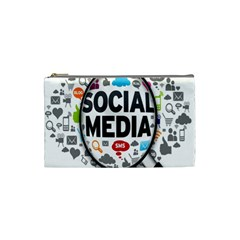 Social Media Computer Internet Typography Text Poster Cosmetic Bag (small)