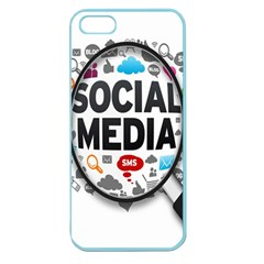 Social Media Computer Internet Typography Text Poster Apple Seamless Iphone 5 Case (color)