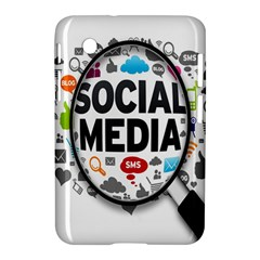 Social Media Computer Internet Typography Text Poster Samsung Galaxy Tab 2 (7 ) P3100 Hardshell Case  by BangZart