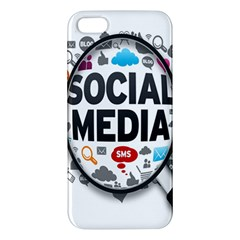 Social Media Computer Internet Typography Text Poster Iphone 5s/ Se Premium Hardshell Case