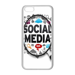 Social Media Computer Internet Typography Text Poster Apple Iphone 5c Seamless Case (white)