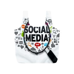 Social Media Computer Internet Typography Text Poster Full Print Recycle Bags (s)