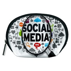 Social Media Computer Internet Typography Text Poster Accessory Pouches (medium)