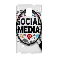 Social Media Computer Internet Typography Text Poster Samsung Galaxy Note 4 Hardshell Case