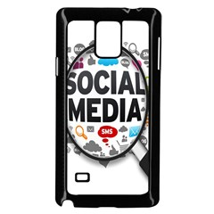 Social Media Computer Internet Typography Text Poster Samsung Galaxy Note 4 Case (black)