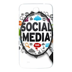 Social Media Computer Internet Typography Text Poster Samsung Galaxy Mega I9200 Hardshell Back Case by BangZart