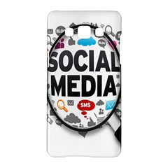 Social Media Computer Internet Typography Text Poster Samsung Galaxy A5 Hardshell Case