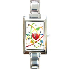 Love Rectangle Italian Charm Watch by BangZart