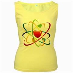 Love Women s Yellow Tank Top