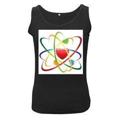 Love Women s Black Tank Top