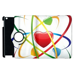 Love Apple Ipad 2 Flip 360 Case by BangZart