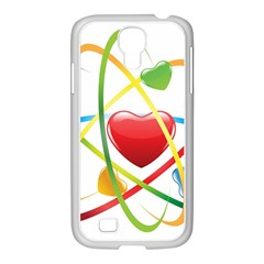 Love Samsung Galaxy S4 I9500/ I9505 Case (white) by BangZart